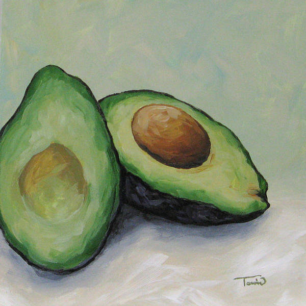 Wall Art - Painting - Avocado by Torrie Smiley