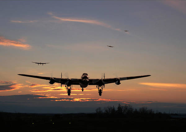 Avro Wall Art - Digital Art - Avro Lancaster - Dawn Return by Pat Speirs
