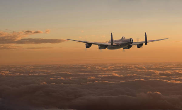 Avro Wall Art - Digital Art - Avro Lancaster - Homeward by Pat Speirs