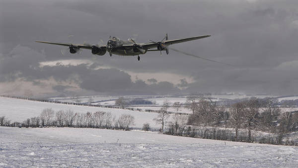 Avro Wall Art - Digital Art - Avro Lancaster - Limping Home by Pat Speirs