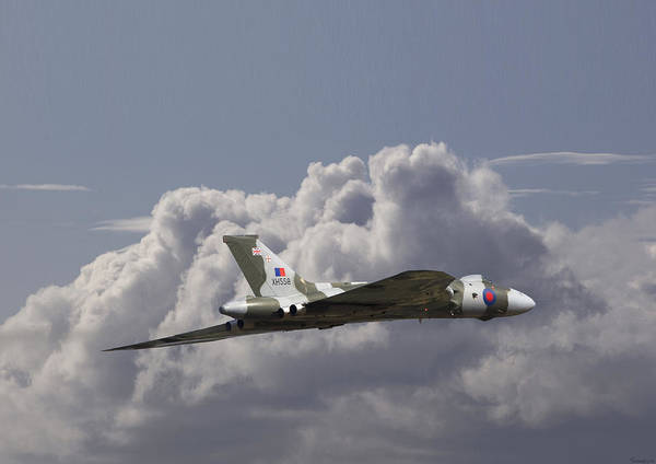 Bomber Photograph - Avro Vulcan - High Transit by Pat Speirs