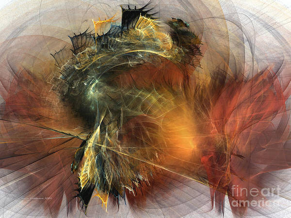 Digital Art - Awakening-abstract Art by Karin Kuhlmann