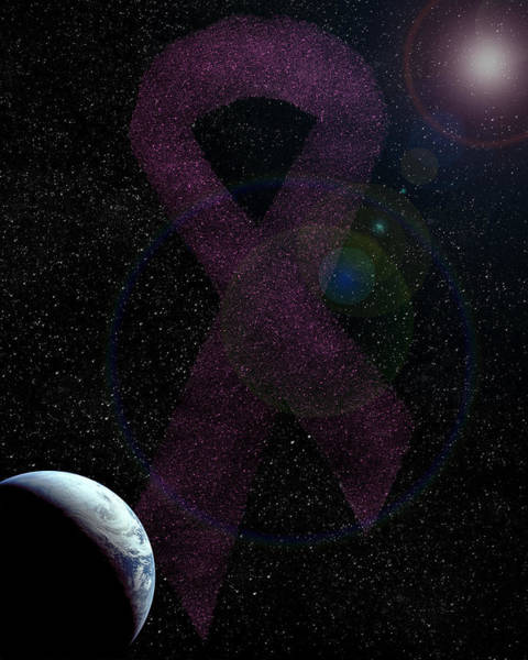 Breast Cancer Awareness Wall Art - Digital Art - Awareness by John Crothers