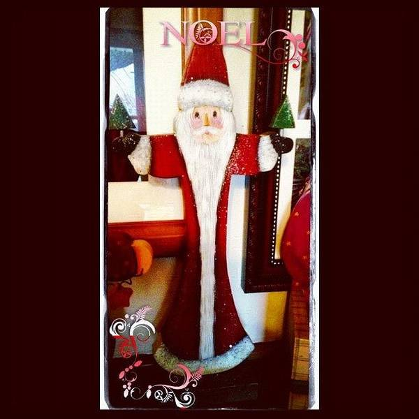 Holiday Wall Art - Photograph - Awesome #santa Made By My Sil. Part Of by Teresa Mucha