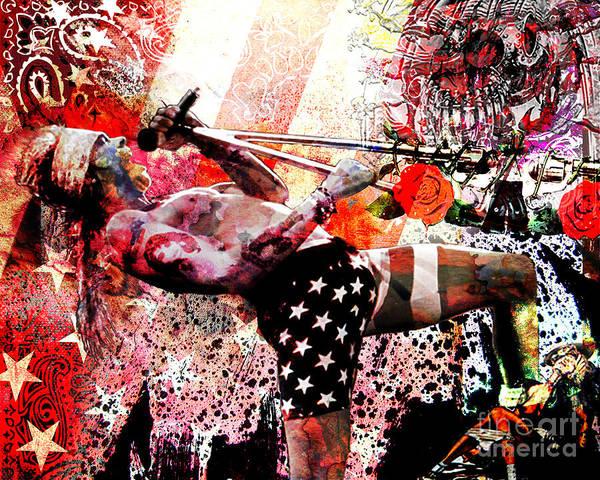 Rockstar Painting - Axl Rose Original by Ryan Rock Artist