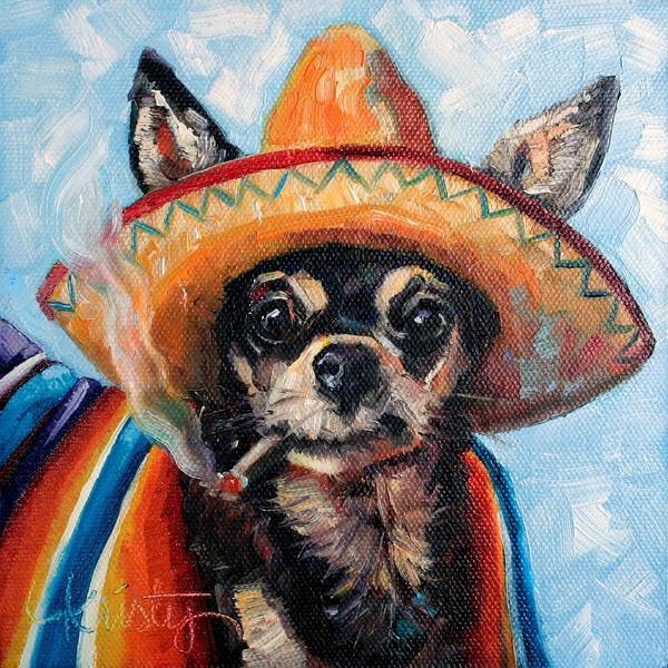 Canine Painting - Ay Chihuahua by Kristy Tracy