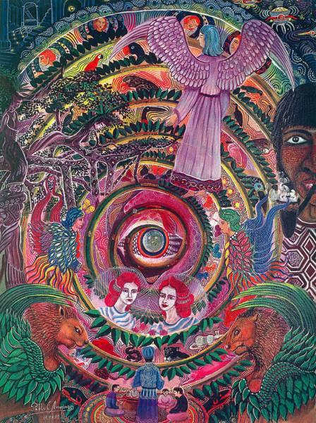 Art Print featuring the painting Aya Muyuywairu Tornado Espiritual by Pablo Amaringo
