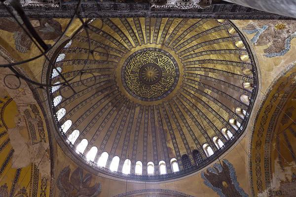 Photograph - Aya Sophia In Istanbul Turkey Inside by Raimond Klavins