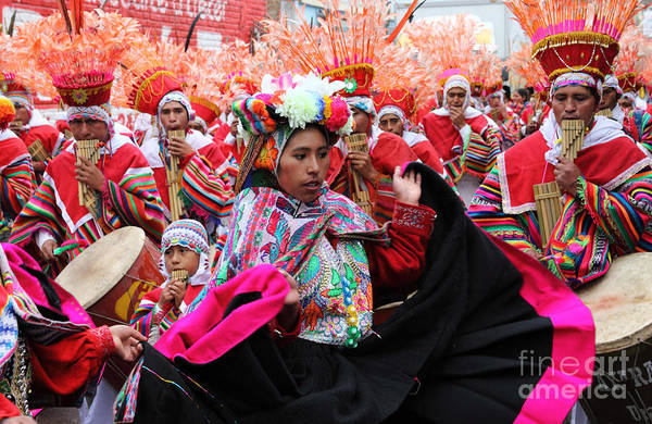 Puno Photograph - Ayarachis Dancers by James Brunker