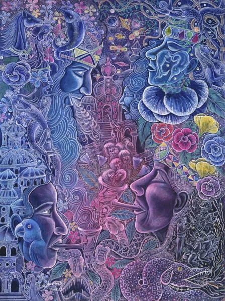 Art Print featuring the painting Ayari Warmi by Pablo Amaringo