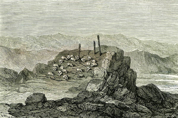 Aymara Wall Art - Drawing - Aymara Near Islay 1869 Peru by Peruvian School