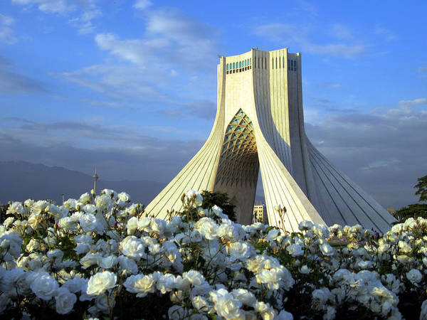 Photograph - Azadi Tower In Tehran by Photo By David Stanley