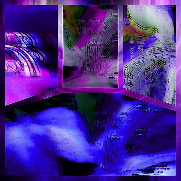 Photograph - Azalea Abstract Tetraptych Collage by Susan Maxwell Schmidt