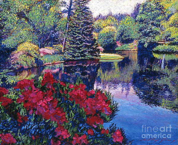 Painting - Azaleas In Spring by David Lloyd Glover