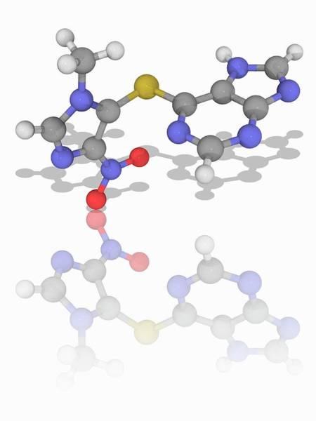 Wall Art - Photograph - Azathioprine Drug Molecule by Laguna Design/science Photo Library