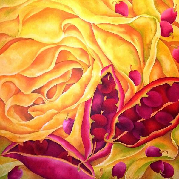 Wall Art - Painting - Azo by Elizabeth Elequin
