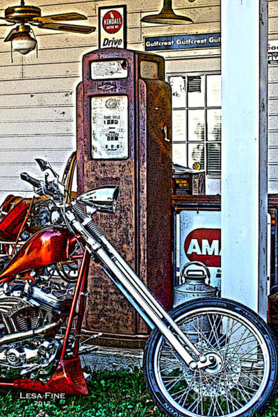 Photograph - Aztec And The Gas Pump by Lesa Fine
