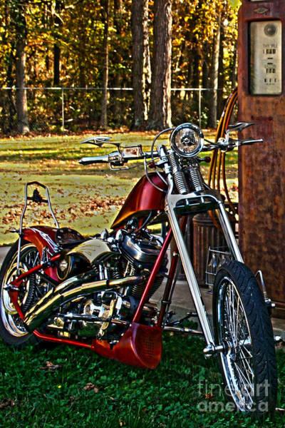 Photograph - Aztec Chopper Nbr 90 Hdr Motorcycle Art by Lesa Fine