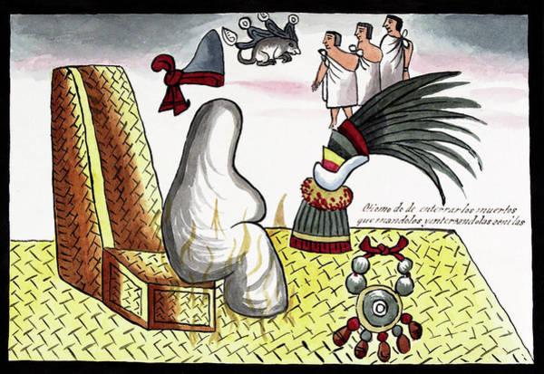Quetzals Photograph - Aztec Emperor Funeral by Library Of Congress