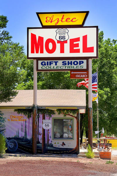 Aztec Photograph - Aztec Motel -  Seligman by Mike McGlothlen