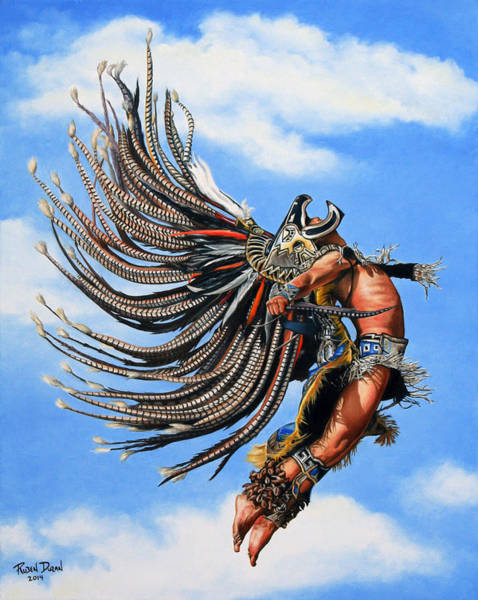 Dancers Wall Art - Painting - Aztec Warrior by Ruben Duran