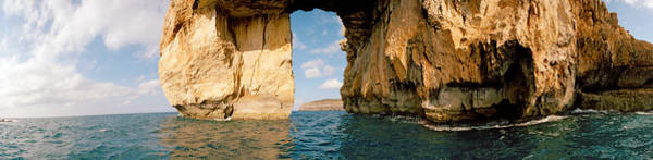 Gozo Wall Art - Photograph - Azure Window Natural Arch In The Sea by Panoramic Images