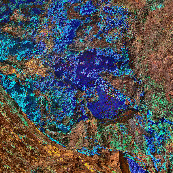Photograph - Azurite A Natural Abstracts In Nature by Bob and Nadine Johnston