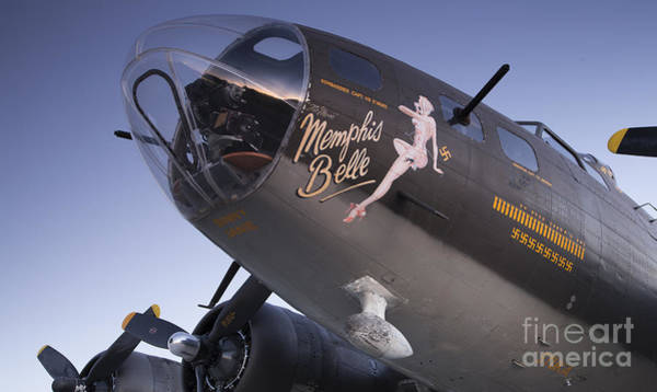 B-17 Bomber Photograph - B-17 Flying Fortress Memphis Belle Dinny Janie by Dustin K Ryan