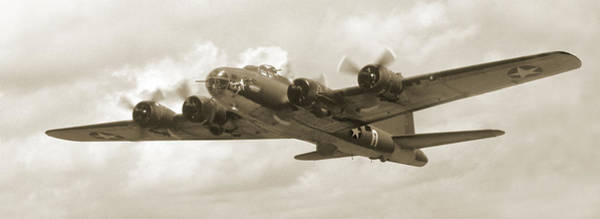 Flying Fortress Photograph - B-17 Flying Fortress by Mike McGlothlen