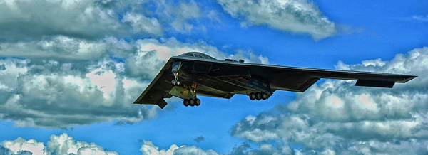 State Of Indiana Photograph - B-2 Spirit Coming In For A Landing by Mountain Dreams