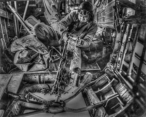 Life Or Death Photograph - B-24 Bomber Belly Gunner - 1943 by Daniel Hagerman