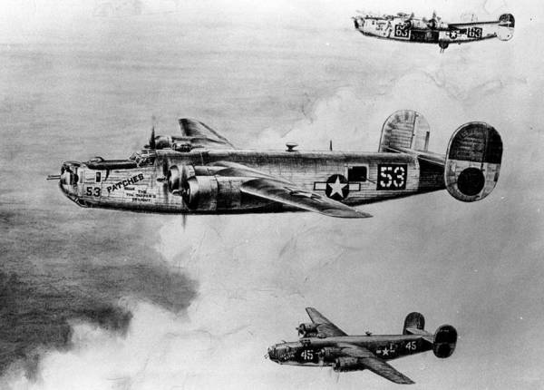 Bomber Photograph - B-24 Bomber by Retro Images Archive