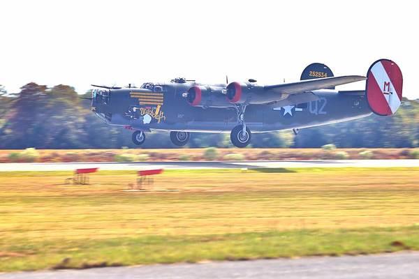 Photograph - B-24 Landing by Gordon Elwell