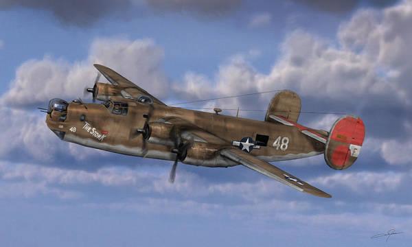 Daylight Digital Art - B-24 Liberator by Dale Jackson