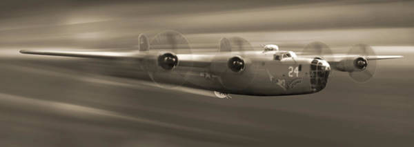 Ww2 Photograph - B - 24 Liberator Legend Panoramic by Mike McGlothlen