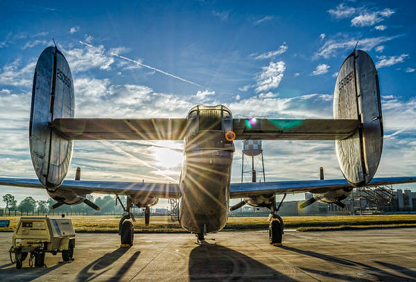 Photograph - B-24 Tail 2 by David Hart