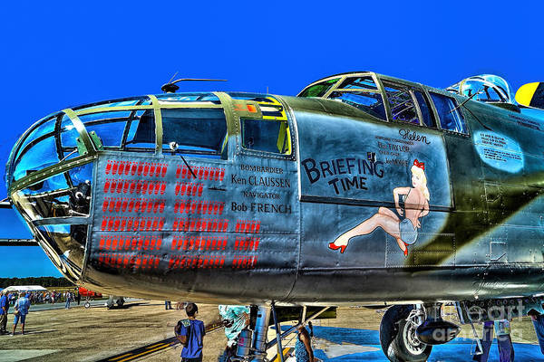 Photograph - B-25 Briefing Time by Nick Zelinsky
