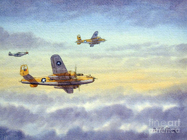 Aircraft Wall Art - Painting - B-25 Mitchell by Bill Holkham