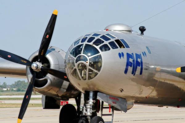 Photograph - B-29 Bomber Fifi by CE Haynes
