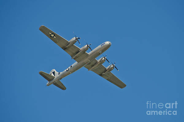Superfortress Photograph - B-29 Bomber Overhead by Anthony Mercieca