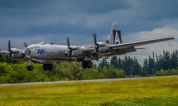 Superfortress Photograph - B-29 Superfortress Flair  by Puget  Exposure