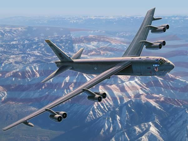 Wall Art - Painting - B-52 Stratofortress  America's Backbone by Stu Shepherd