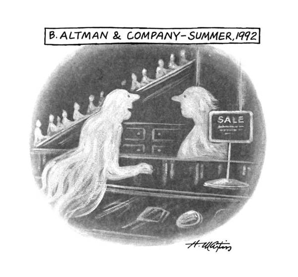 Ghosts Drawing - B. Altman & Company - Summer by Henry Martin