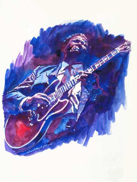 Painting - B. B. King Blue by David Lloyd Glover