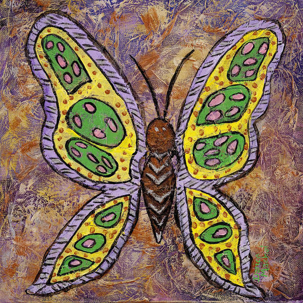Spread Painting - B Is For Butterfly by Darice Machel McGuire