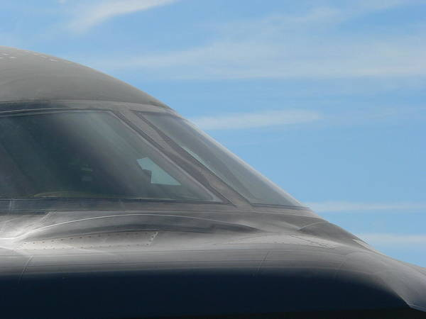 Photograph - B1 Bomber Windshield by Jeff Lowe