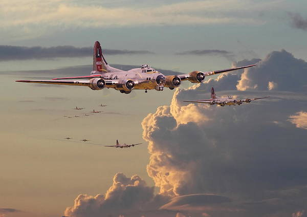 Flying Fortress Photograph - B17 - Just Another Day by Pat Speirs
