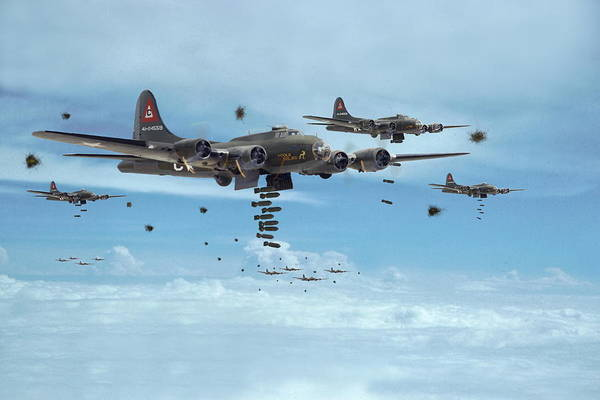 Wall Art - Photograph - B17 - Mighty 8th Arrives by Pat Speirs