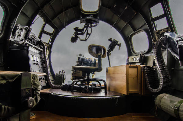 B-17 Bomber Photograph - B17 Navigator Position by Puget  Exposure
