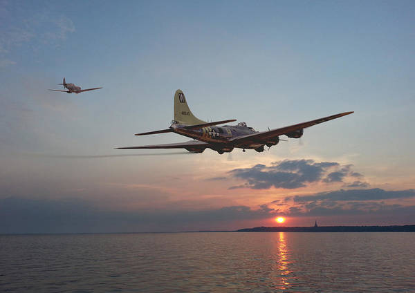 Flying Fortress Photograph - B17  Westward Ho by Pat Speirs